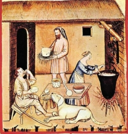 From the very beginning Cheese in the Middle Ages