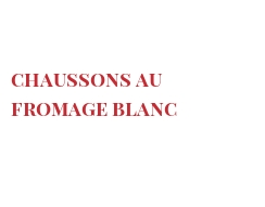 Chaussons au fromage blanc