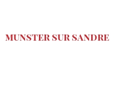 Recipe Munster sur Sandre