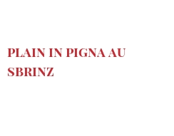 Recipe Plain in Pigna au Sbrinz