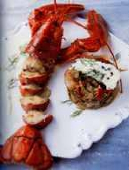 Recipe Homard au Roquefort et ratatouille