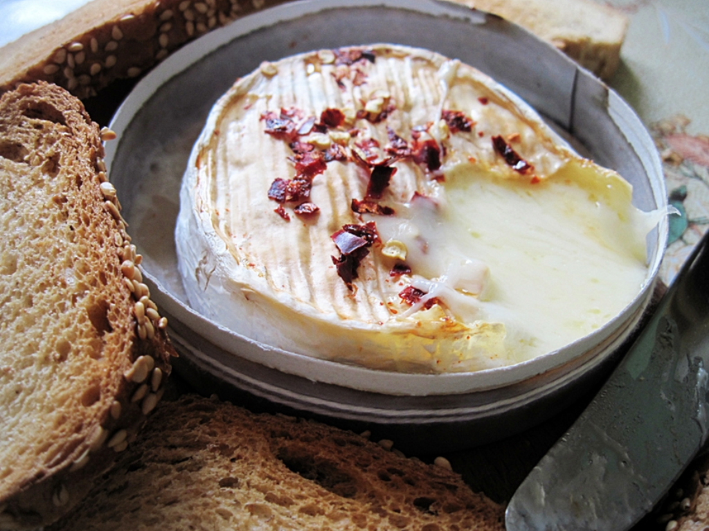 Camembert en fondue Normande