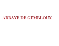 Cheeses of the world - Abbaye de Gembloux