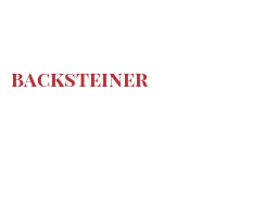 Cheeses of the world - Backsteiner