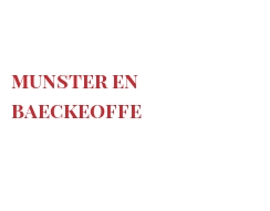 Recipe Munster en Baeckeoffe